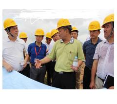南宁市市委常委五象新区管委会常务副主任韦力平到我司项目视察